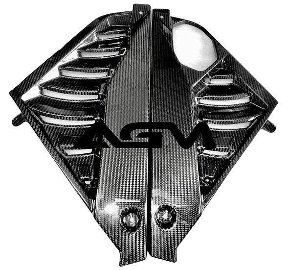 AGM C8 CORVETTE Carbon Fiber Engine Appearance Mid-Covers