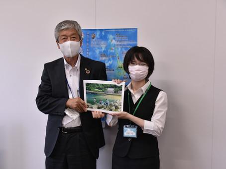 ☁『五島百景画集』を寄贈いたしました☁