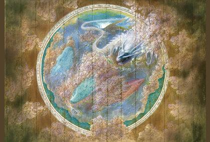 気象神社の天井画「天気の子」ポストカード