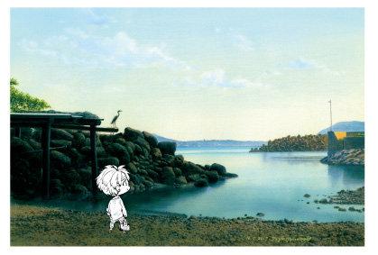 「増田港と鵜」五島百景×ばらかもん コラボレーション ポストカード