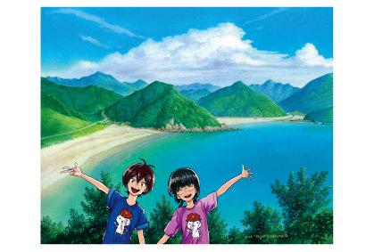「高浜と頓泊」五島百景×ばらかもん コラボレーション ポストカード