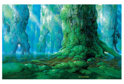 シシ神の森(5)『もののけ姫』ポストカード