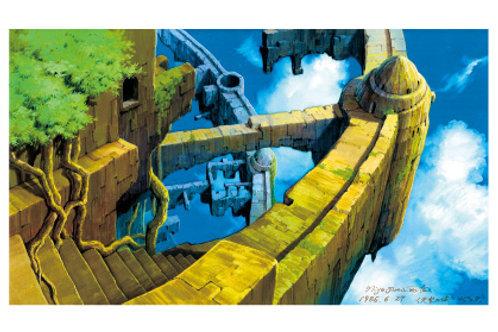 荒廃したラピュタ『天空の城ラピュタ』ポストカード