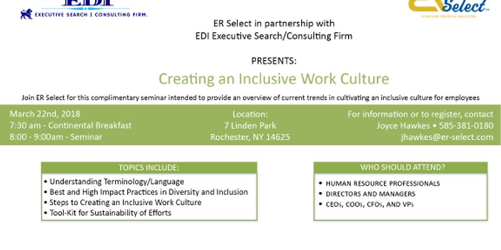 Creating An Inclusive Work Culture Seminar