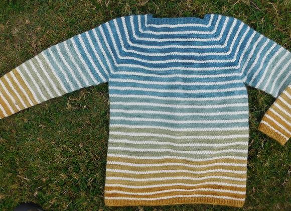 Good Karma Striped Pullover pattern