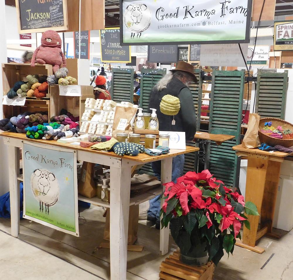 Good Karma Farm market booth