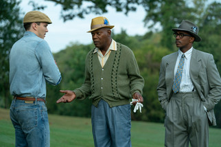 Nicholas Hoult, Samuel L Jackson and Anthony Mackie  (The Banker)