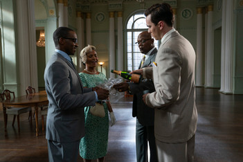 Anthony Mackie, Nia Long, Samuel L Jackson & Nicholas Hoult ( The Banker)