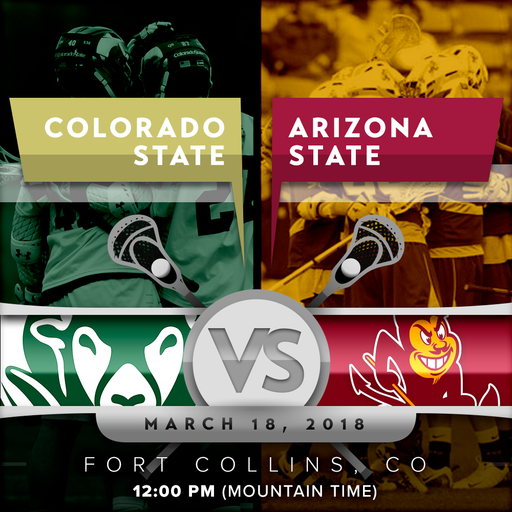 The Rams and the Sun Devils face off at noon! Lax talk Radio is doing a live broadcast today's match-up.