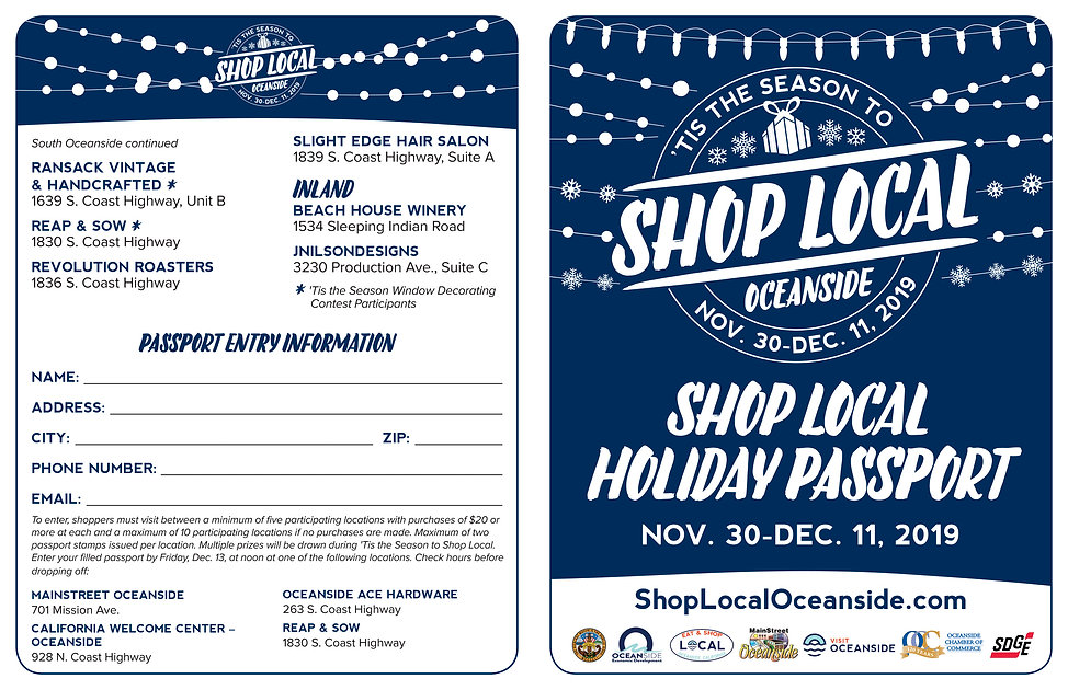2019 'Tis the Season to Shop Local Passp