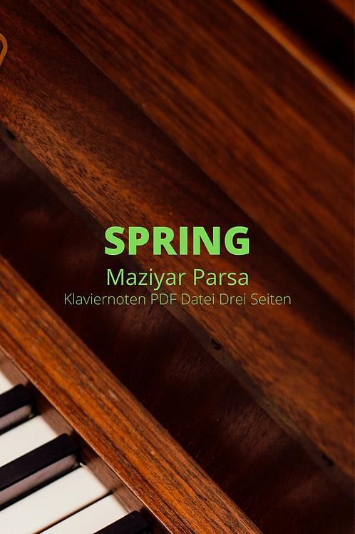 Spring - Klaviernoten - PDF
