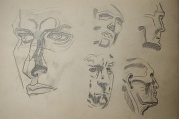 Estudios rostro humano
