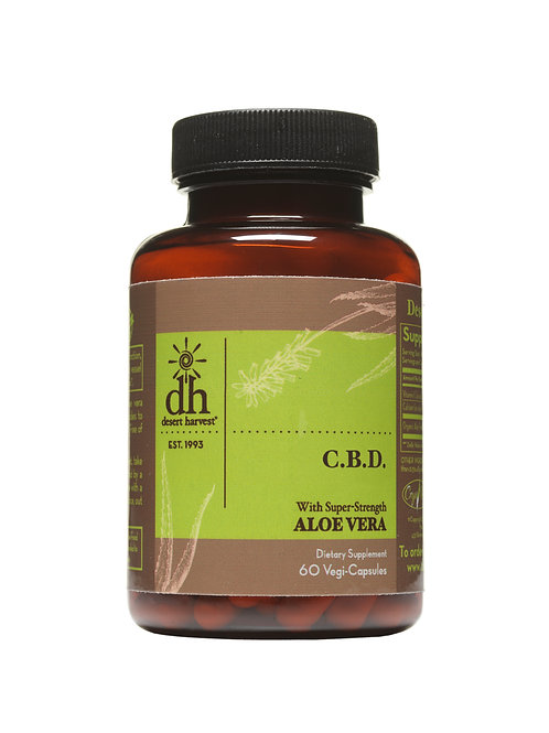 C.B.D. with Super-Strength Aloe Vera - 60 Capsules
