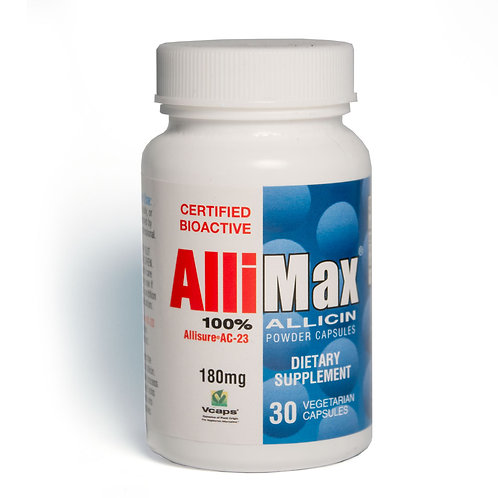 Allimax - Allicin Garlic Extract - 180 mg - 30 & 90 Capsule Options