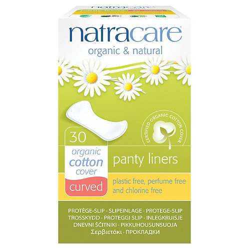 NatraCare - Organic Cotton Panty Liners - Curved - 30