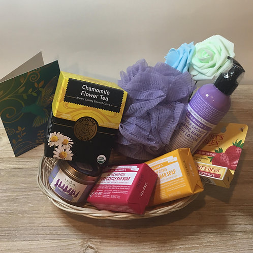 Are You Going To San Francisco - 2 Soaps, Pouf, Tea, Lotion, Candle, Lip Balm