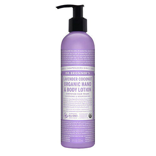 Dr. Bronner's - Organic Lavender Coconut Lotion - 8 fl oz