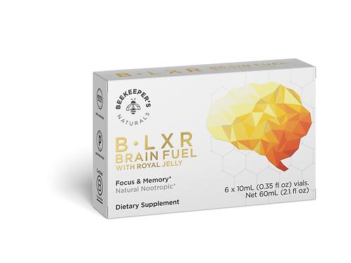 B. LXR - Brain Fuel - BeeKeeper's Naturals - 10 ml Vials - 6 Count