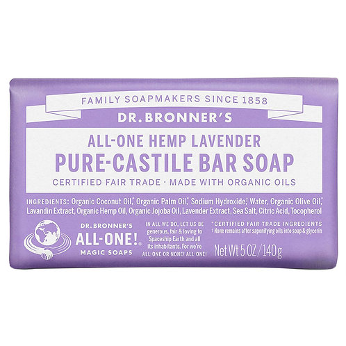 Dr. Bronner's Pure Castile Bar Soap - 5 oz: 5 SCENTS TO CHOOSE FROM!