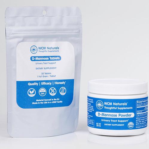 D-Mannose Mix & Match Bundle 1: 50 g Powder & 30 Tablets