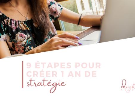 Les 9 étapes pour créer 1 an de stratégie
