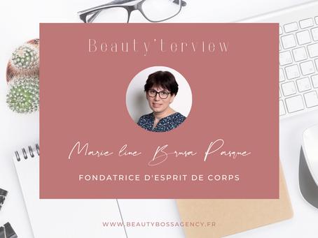 Beauty'terview Marie-Line Brusa-Pasqué, fondatrice d'Esprit de corps.