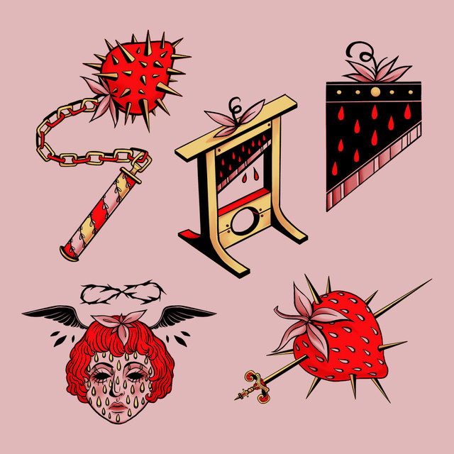Strawberry Guillotine Sticker Pack