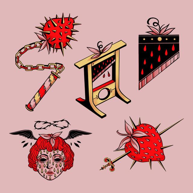 Strawberry Guillotine Sticker Pack