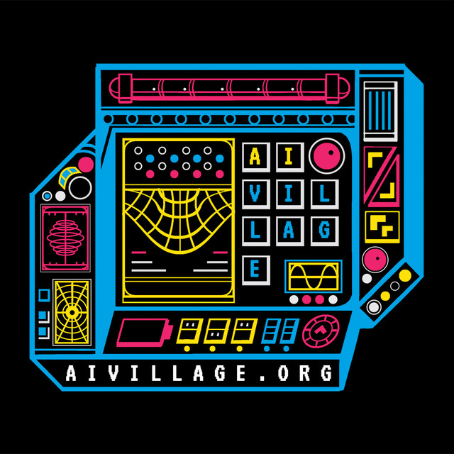 AI Village Sticker Design