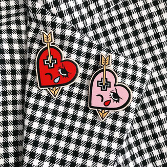 Heartache Wooden Pins