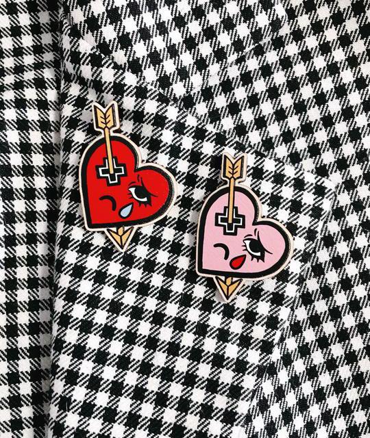 Heartache Wooden Pins