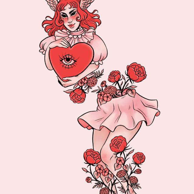 Split Angel Tattoo Design Commission