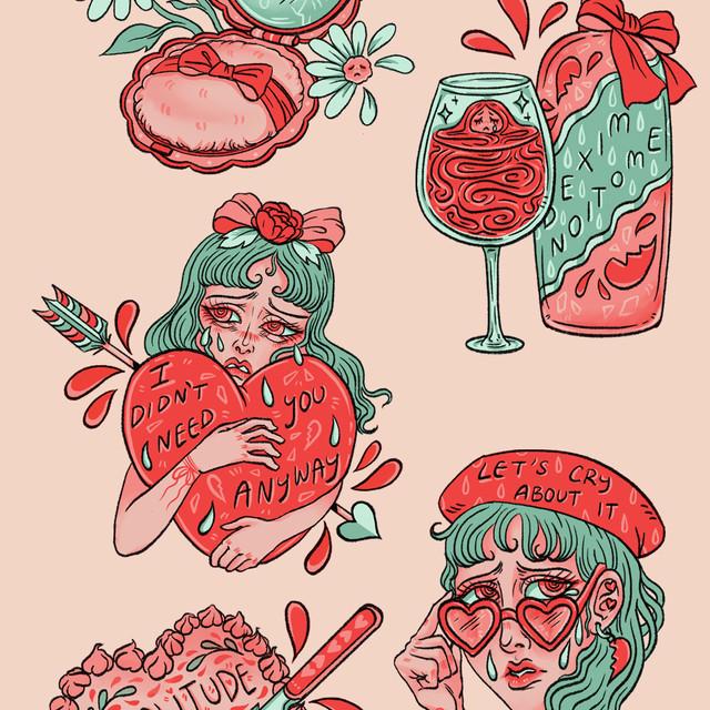 Heartbreak Sticker Pack