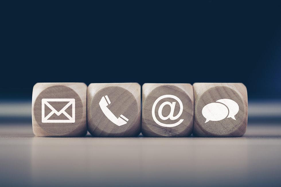 Contact Methods. Close-up of a phone, em