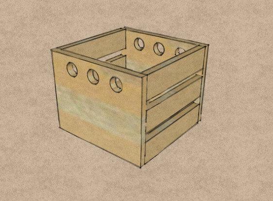 Artisan Pine Crate - Wrapping