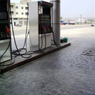 Gas Station driveway in North