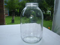 Frasco de vidrio para germinar semillas