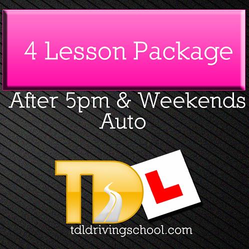 4 Lessons - Automatic Drive - Peak
