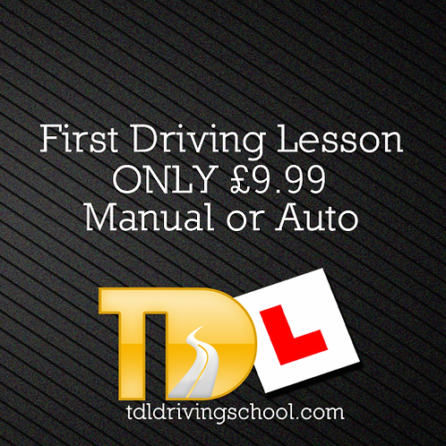 First Driving Lesson ONLY £9.99*