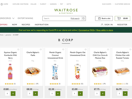 Ocado joins Waitrose with a dedicated B Corp certified brand aisle