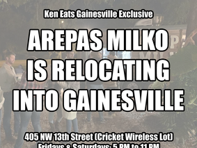 Arepas Milko is Relocating