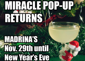 Miracle Christmas Bar Pop-Up Returns