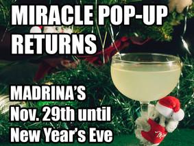 Miracle Christmas Bar Pop-Up Returns