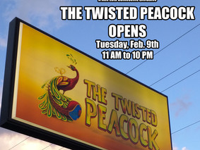 The Twisted Peacock Opens!