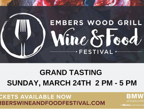 Embers' Wine & Food Festival is this Sunday, March 24th
