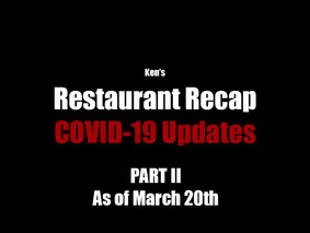 COVID-19 Updates *As of March 20th*