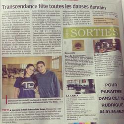 Article La Provence Décembre 2014