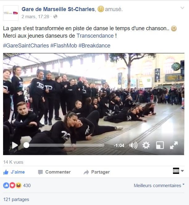 FLASH MOB SNCF MARSEILLE BATTLE PRO