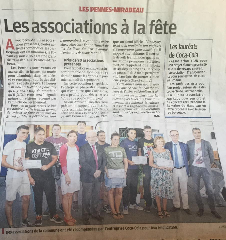 ARTICLE La Provence Septembre 2015