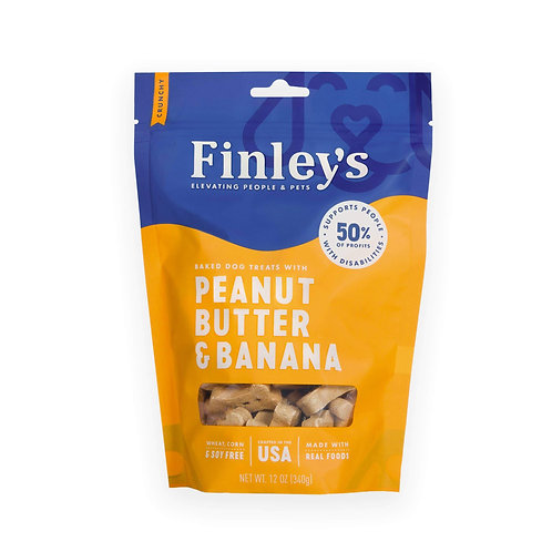 12 oz Finley's Barkery Peanut Butter & Banana Biscuit